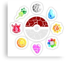 Broken Kanto Badges - Pokemon Canvas Print