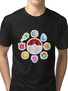 Broken Kanto Badges - Pokemon Tri-blend T-Shirt