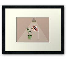 Piranha Plant Singing Framed Print
