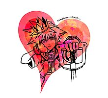 Sora, King of Hearts (red)  Photographic Print