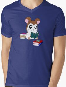 Maxwell with Books Mens V-Neck T-Shirt