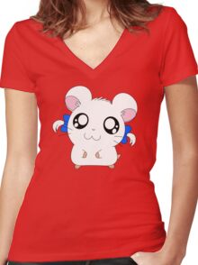 Bijou with Ribbons Women's Fitted V-Neck T-Shirt