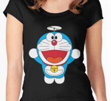 Doraemon Flying Women's Fitted Scoop T-Shirt