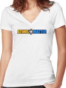 Atoms Matter Women's Fitted V-Neck T-Shirt