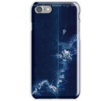 American Revolutionary War Era Maps 1750-1786 874 Sketch of Haddonfield March 1778 Sketch of the roads from Pennyhill to Black Horse through Mount Holly Inverted iPhone Case/Skin