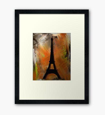 Eiffel Tower Rustic Framed Print