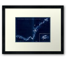 American Revolutionary War Era Maps 1750-1786 874 Sketch of Haddonfield March 1778 Sketch of the roads from Pennyhill to Black Horse through Mount Holly Inverted Framed Print