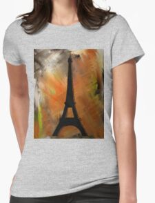 Eiffel Tower Rustic Womens Fitted T-Shirt