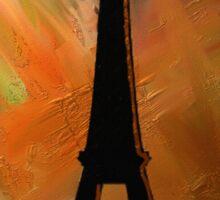 Eiffel Tower Rustic Sticker