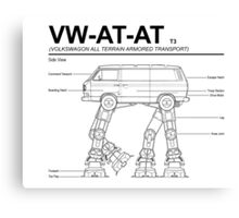 VW Westfalia AT-AT T3 Blueprint Canvas Print