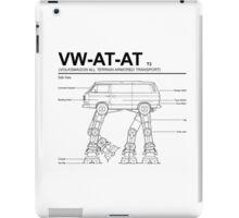 VW Westfalia AT-AT T3 Blueprint iPad Case/Skin