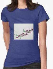 pink flower vine Womens Fitted T-Shirt