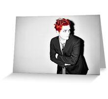 Gerard Way Black/White/Red Greeting Card