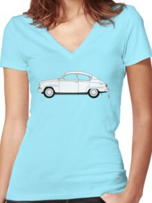 SAAB 96 Women's Fitted V-Neck T-Shirt