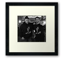 Jensen and Misha You're Not Alone Framed Print