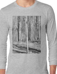 Black And White Disc Golf Basket Long Sleeve T-Shirt