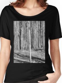 Black And White Disc Golf Basket Women's Relaxed Fit T-Shirt