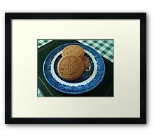 Nice things come in threes -  Mild Ginger Biscuits Framed Print