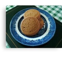Nice things come in threes -  Mild Ginger Biscuits Canvas Print