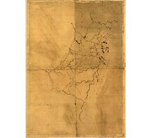 American Revolutionary War Era Maps 1750-1786 096 A map of the land abt Red Stone and Fort Pitt Photographic Print