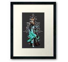 Gaming Princess: Midna (Grey) Framed Print