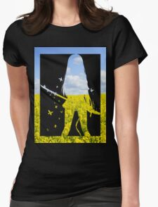 sword girl #1  Womens Fitted T-Shirt