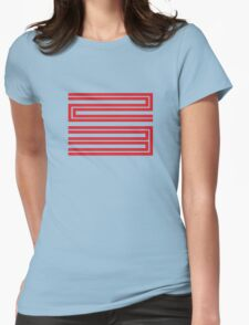 J11-23 Red Womens Fitted T-Shirt