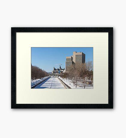 Ottawa's Rideau Canal in winter Framed Print