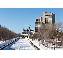 Ottawa's Rideau Canal in winter Photographic Print