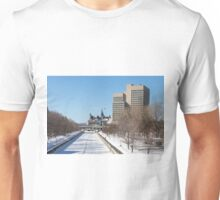 Ottawa's Rideau Canal in winter Unisex T-Shirt