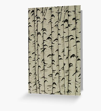 A Bunch of Birch Greeting Card