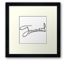 Transcend [Black] Framed Print