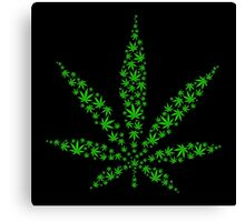 Marijuana in Marijuana Leaf [Green] Canvas Print