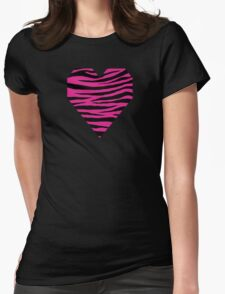 0152 Barbie Pink Tiger Womens Fitted T-Shirt