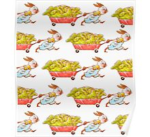 Red Wagon Rabbit  Poster