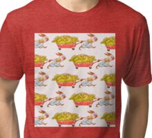 Red Wagon Rabbit  Tri-blend T-Shirt