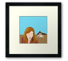 amy pond - day of the moon Framed Print