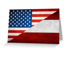 Half Austrian Half American Flag Greeting Card