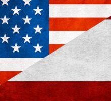Half Austrian Half American Flag Sticker