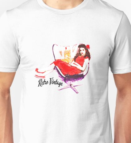Bobby Girl Retro Vintage Pin Up Unisex T-Shirt