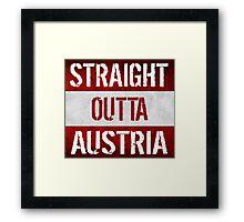 Straight Outta Austria Flag Framed Print