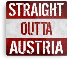 Straight Outta Austria Flag Metal Print