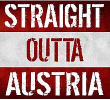Straight Outta Austria Flag Photographic Print