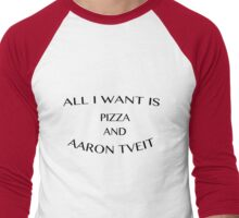 pizza & aaron tveit Men's Baseball ¾ T-Shirt