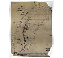 186 Map of the drainage and catchment basin of Asylum Creek to illustrate a report on a water supply for the WL Asylum of Va Poster