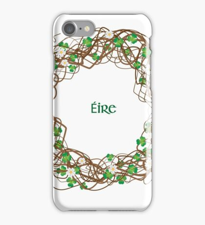 Shamrock Circle Wreath - Eire iPhone Case/Skin