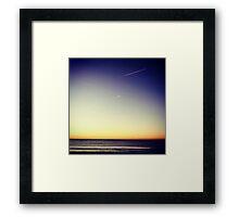 Sky Rockets in Flight Framed Print