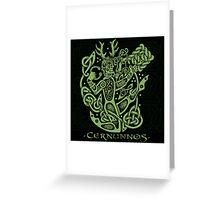 """Cernunnos, """"The Celtic Horned God"""" Greeting Card"""