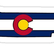 Tennessee outline Colorado flag Sticker