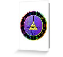 Gravity Falls Bill Cipher Wheel ~ Party Time Greeting Card